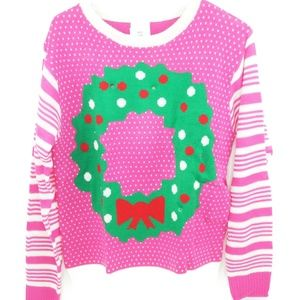 Sweaters - Ugly Christmas Sweater Women's Light Up Wreath